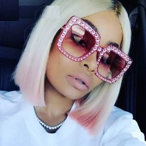 Accessories - Just In 💕Oversized Pink Bling Fashion Sunnies